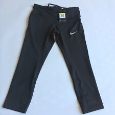 Nike Women's Power Epic Run Cropped Pants Running Tights 938602-010 Size Small