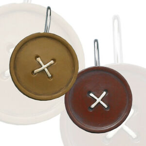 Button Shower Curtain Hooks, Set of 12, Choice of Burgundy or Mustard
