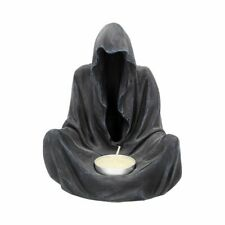 NEMESIS NOW BLACK GRIM  REAPER GOTHIC GHOST FINAL FLAME TEA LIGHT CANDLE HOLDER