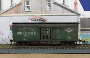 Roundhouse HO Gorre & Daphetid Ventilated Boxcar Built Weathered KDs MW Nice!