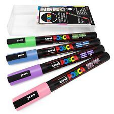 Uni Posca-PC-3M Art marqueur peinture stylos-Pack de 4 Portefeuille-TONS PASTEL