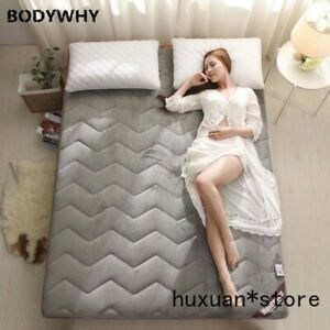 Comfortable and Warm Mattress Flannel Breathable Bed Mat  Single Mattress Double