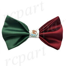 New formal men's pre tied Bow tie Mexico flag red white green wedding occasion
