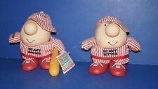 "Lot of 2 Vintage 1988 ZIGGY HEAVY HITTER Figure DollS  6.5"" Tall"