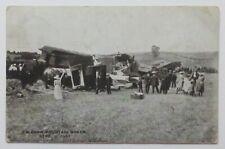 Antique Postcard Caledon Ontario Train Wreck 1907 Canadian Pacific Railway RPPC