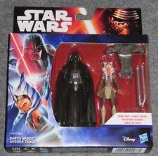 Darth Vader Ahsoka Tano mit Schleuderscheibe B3959 Star Wars Hasbro Figur