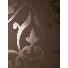 Brown & Bronze Metallic Ornamental Damask Moroccan / Geometric Design Wallpaper