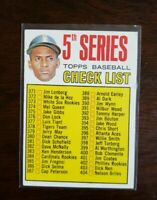 1967 Topps 5th Series Checklist Roberto Clemente Pittsburgh Pirates Card #361