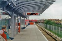 PHOTO  1994 CUSTOM HOUSE FOR EXCEL RAILWAY STATION DLR VIEW WESTWARD TOWARDS CAN