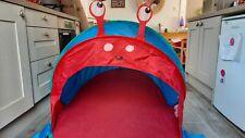 Kids Snail / bug pop up play tent - children 1-8 years - fold-away