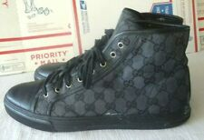 MEN'S GUCCI GG HIGH TOP BLACK SNEAKERS 426188 (SZ 11) GENTLY USED