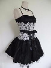 Vintage Jessica McClintock Black Lace Party Dress Xxs 0 00 Fit n Flare Flirty