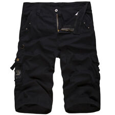 Mens Military Combat Camo Cargo Shorts Pants Hiking Casual Army Trousers Bottoms