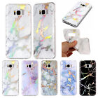 Holographic Laser Glossy Marble Soft Rubber Case Cover For Samsung Galaxy Phones