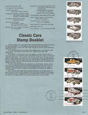 #8841 25c Classic Cars Stamps #2381-2385a USPS Souvenir Page