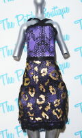 MONSTER HIGH SCARIS CITY FRIGHT CLAWDEEN WOLF DOLL OUTFIT REPLACEMENT DRESS ONLY