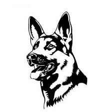 Hot GERMAN SHEPHERD DOG Animal Car Stickers Fashion Classic Personality  JX