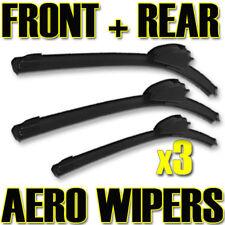 3x Front & Back FLAT Wiper Blades Fits Hyundai Getz 02- XE9