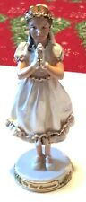 "Very Lovely 6.5"" Resin First Communion Girl Religious Figurine by Roman (2006)"
