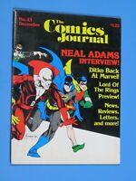 The Comics Journal Issue # 43 Dennis Fujitake Cover Neal Adams Steve Ditko 1978