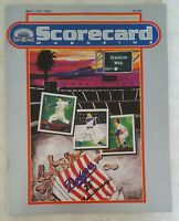 1987 LOS ANGELES DODGERS PROGRAM SCORECARD MAGAZINE UNSCORED VS PADRES