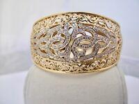 orientalischer ARMREIF mit schönem MUSTER aus 750 / 18KARAT GOLD 38,1 GRAMM