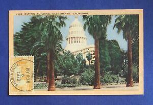 #997 California Statehood FD Post Card--Sept. 9, 1950 Hand Bullseye Cancel