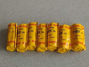 7 Rolls Kodak T-max 100 TMX 120 Medium Format Film Expired 2017 Kept Frozen
