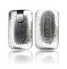 Cover Case Pouch Croco IPHONE 4 4S Argent Silver