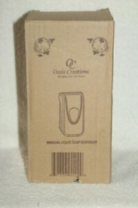 OASIS CREATIONS MANUAL LIQUID HAND SOAP DISPENSER, WALL MOUNT, EASY REFILL