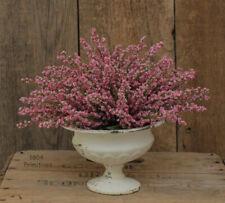 Artificial PINK Heather Table SET - Floral Decor - Farmhouse