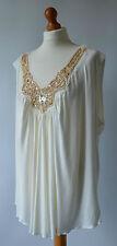 Ladies Evans Ivory / Cream & Gold Top Size 30