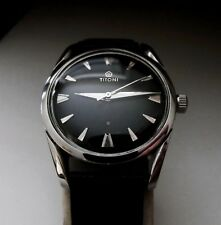 Reloj De Pulsera Vintage SUIZO TITONI 17 Joya Acero Inoxidable Manual Viento Caballeros 1960S
