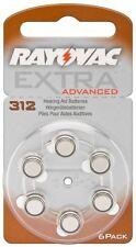 Rayovac 6x Rayovac Extra Advanced PR41/312A zinc-air hearing aid cell 1.4V