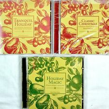 Bath Body Works Christmas 3 CD Lot Tranquil Holiday Magic Classic Barrage 2001