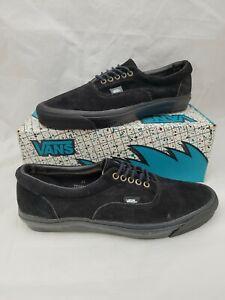 Vintage VANS shoes Black Suede Era Made USA 12 BMX Skateboarding SK8 HI sneakers