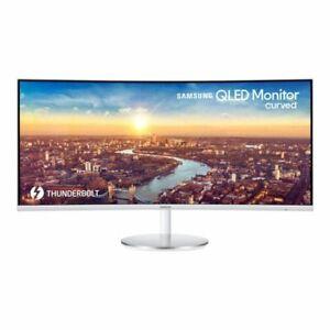 Samsung LC34J791WTUXEN Inch LED Monitor - White/Silver