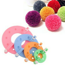 1Set 4Sizes Pom Maker Fluff Ball Weaver Needle Knitting Wool Tool Yarn Kit CH