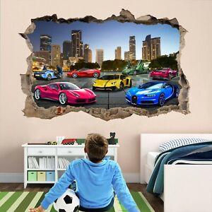 Super Sports Cars Supercar Wall Sticker Mural Decal self-adhesive Print Art DT24