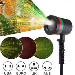 Christmas LED Moving Laser Projector Light Xmas Party Outdoor Landscape Lamp