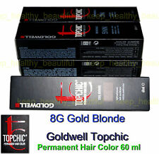 Goldwell Topchic Permanent Hair Color 60 ml 8G GOLD BLONDE Free post