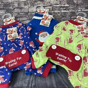Pet Central Small Dog Sloth with Candy Canes & Santa outfits