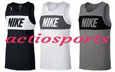 Nike Mens Vest Sportswear Tank Droptail Sleeveless TankTop Vest Size S M L XL
