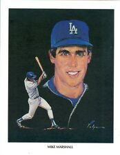 1982 Los Angeles Dodgers Union 76 Oil Print: Mike Marshall