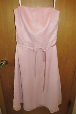 After Six Party Dress Pink CHIFFON Sheer Bridesmaid Dance Prom Size 12