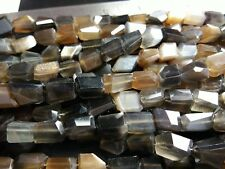 """AAA GOLD SHINE MOONSTONE FACETED NUGGETS BEADS 8-9 MM ,8"""" INCH STRANDS"""