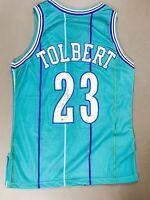 Tom Tolbert Signed Autographed Basketball Charlotte Hornets Jersey BAS COA