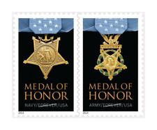 2014 46c Medal of Honor, World War II, Pair Scott 4822-23 Mint F/VF NH