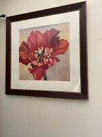 """Beautiful Framed And Matted Floral Flower Painting Signed Hollack 28.5"""" By 28.5"""""""