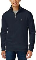 Tommy Hilfiger Men's 1/4 Zip Mockneck Sweatshirt Blue Size XL